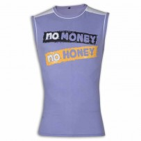 No Money No Honey Round Neck T-Shirt YG27Medium Purple