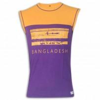 Bangladesh Round Neck T - Shirt YG30 Blue Violet