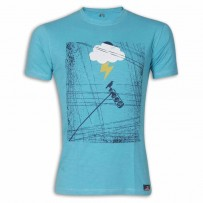 Blue Bird Round Neck T-shirt MG15 Blue