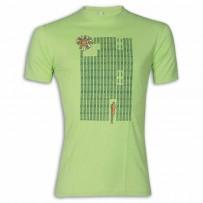 Flower Round Neck T-Shirt MG16 Apple Green