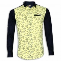 Exclusive Printed Cotton Casual Shirt Collection EX15E Yellow