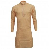 Exclusive Design Mixed Cotton Punjabi SB54P Deep Yellow