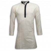 Exclusive Stripe Eid Panjabi SB10E Off White