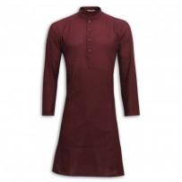 Exclusive Design Mixed Cotton Punjabi SB51P Brown