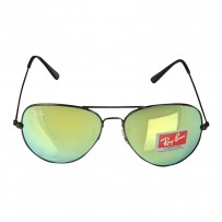 Ray-Ban RB 3026 Lime Mirror Aviator Black Frame Replica Sunglasses