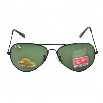 Ray-Ban Aviator RB 3026 Diamond Hard Black- Bottle Green Sunglass