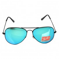 Ray-Ban RB 3026 Blue Mirror Aviator Black Frame Replica Sunglasses