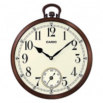 CASIO Analog Brown Wall Clock IQ-66-5DF