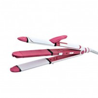 Kemei KM 1291 Professional 3in1  Hair Straightener Cum Curler And Crimper Iron
