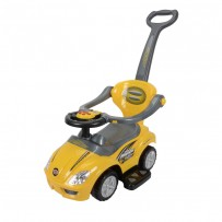 Baby's Auto Push Car Yellow BPC03