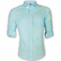 LAVELUX Premium Slim Solid Cotton Formal Shirt LMS153