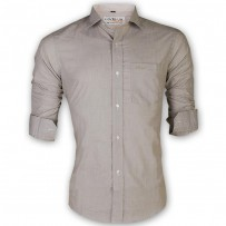 LAVELUX Premium Slim Solid Cotton Formal Shirt LMS154