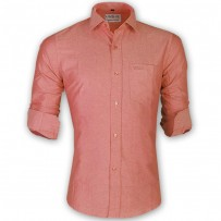 LAVELUX Premium Slim Solid Cotton Formal Shirt LMS156