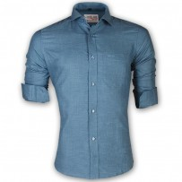 LAVELUX Premium Slim Solid Cotton Formal Shirt LMS157