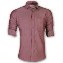 LAVELUX Premium Slim Solid Cotton Formal Shirt LMS158