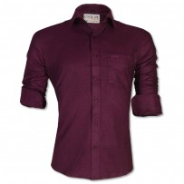 LAVELUX Premium Slim Solid Cotton Formal Shirt LMS415
