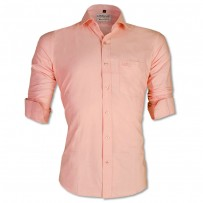 LAVELUX Premium Slim Solid Cotton Formal Shirt LMS416