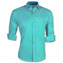 LAVELUX Premium Slim Solid Cotton Formal Shirt LMS418