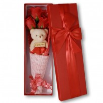 Exclusive Soap Flowers Bouquet Gift Box - Red