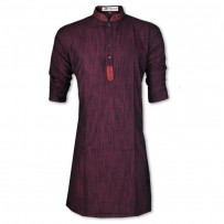 Eid Exclusive  Maroon Slab Embroidery Panjabi JP113