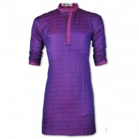 Eid Exclusive Shiny Purple Fancy Cotton Panjabi JP119