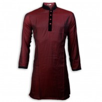 Exclusive Red Dot Slub Boishakhi Panjabi  JC762