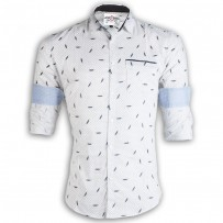 PRODHAN Pure Cotton Casual Leaf Printed Shirt PC252