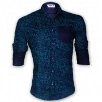 DEVIL Pure Cotton String Printed Casual Shirt DE133
