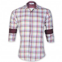 DEVIL Pure Cotton Casual Check Shirt  DE132