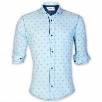 DEVIL Remi Cotton Boat Print Casual Shirt DE130