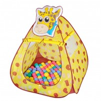 My Dear Baby Giraffe Ball House With 50 Soft Flex Balls AJC209