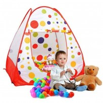 Children Polka Ball Print Play House With 50 Soft Flex Balls  AJC211