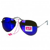 Ray-Ban RB 3026 Navy Blue Aviator Black Frame Replica Sunglasses