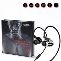 Original REMAX RM-S8 Neckband Waterproof Bluetooth Headset - Black/White