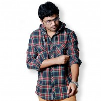 SIMPLE OUTFITS Premium Flannel Hooded Shirts SH273