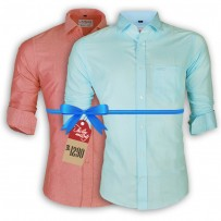 LAVELUX Premium Slim Solid Cotton Casual Shirts : Combo 33