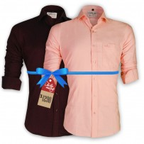 LAVELUX Premium Slim Solid Cotton Formal Shirts : Combo 42
