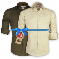 LAVELUX Premium Slim Solid Cotton Formal Shirts : Combo 43