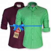 LAVELUX Premium Slim Solid Cotton Formal Shirts : Combo 44