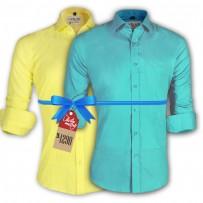 LAVELUX Premium Slim Solid Cotton Formal Shirts : Combo 48