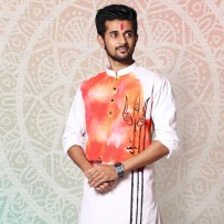SIMPLE OUTFITS Puja Collection Cotton Print Panjabi SP878