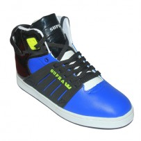 Supra High Top Shoes FS022 Blue With Black