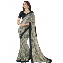 Vinay Star Walk Chiffon Georgette Saree With HTE Blouse  - SW42