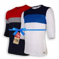 Signature Full Sleeve Solid Men's  T-Shirt  : Combo 101