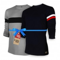 Signature Full Sleeve Solid Men's  T-Shirt  : Combo 102