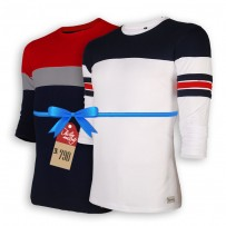 Signature Full Sleeve Solid Men's  T-Shirt  : Combo 105