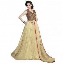 Exclusive Eid Special Dia Mirza Gown Collection Cream WF022