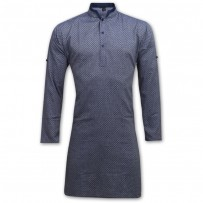 Exclusive Stripe Eid Panjabi SB11E Ash Blue