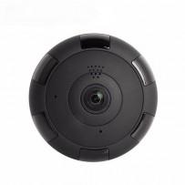 Panoramic Night Vision Wi-Fi IP 360 Degree CC Camera Black