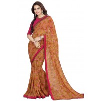 Vinay Star Walk Chiffon Georgette Saree With HTE Blouse  - SW32
